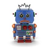 Smutny rocznika robot ilustracji
