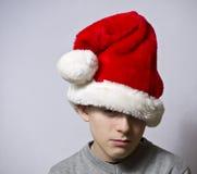 smutny Santa fotografia stock