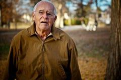 Smutny stary człowiek Zdjęcie Stock