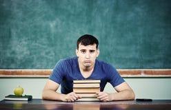 Smutny Studencki blackboard Zdjęcia Royalty Free