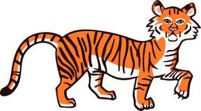 Smutny tygrys Zdjęcia Stock