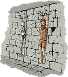 Smutny więzień Obrazy Royalty Free