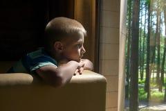 Smutny wzburzony dziecko Obraz Royalty Free