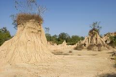 Smutsa erosion av regn och wind Royaltyfria Foton