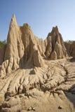 Smutsa erosion av regn och wind Royaltyfria Bilder