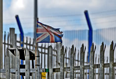 Smutsa ner flaggan Britannien Royaltyfria Bilder