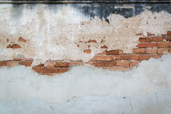 Smutsa ner konkret och grov yttersida och tegelstenväggen Royaltyfria Bilder