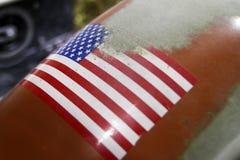 Smutsig amerikanska flaggan Royaltyfri Foto