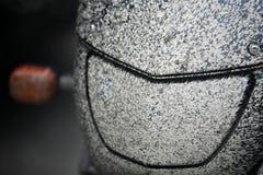 smutsig billyktamotorcykel Royaltyfri Bild