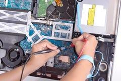 Smutsig dator för knipa Royaltyfri Foto