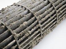 Smutsig fan för ekorrebur i luftkonditioneringsapparat Royaltyfri Bild