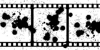 smutsig film royaltyfria foton