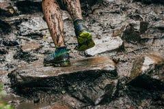 Smutsig fot löpare Arkivbild
