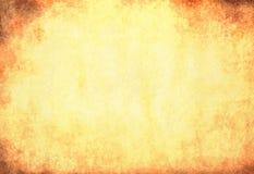 Smutsig gulingpapperstextur Royaltyfri Fotografi