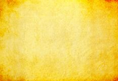 Smutsig gulingpapperstextur Royaltyfri Foto