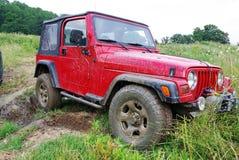 smutsig jeep royaltyfria foton
