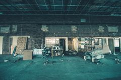 Smutsig konstruktionsplats Arkivfoto