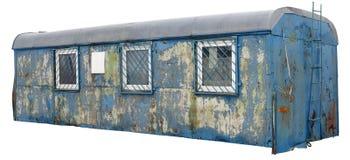 Smutsig lång isolerad blåttlastbil Fotografering för Bildbyråer