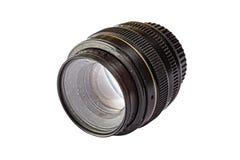 Smutsig lins, digital kamera, dammig, smutsig, isolerad vit backgr Royaltyfri Foto