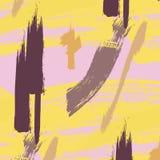 Smutsig målarpenselmodell Dynamisk textur för idérik tappning Pastellfärgad blå vit hipsterbakgrund för upprepning stock illustrationer