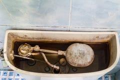 Smutsig mekanism för slät toalett Royaltyfri Fotografi