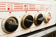 Smutsig och bruten kontrollantplatta Royaltyfria Bilder