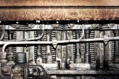 Smutsig och fetthaltig motor Royaltyfri Bild