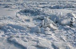 Smutsig is och snö Royaltyfria Bilder