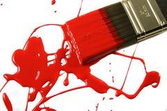 smutsig paintbrush Royaltyfri Fotografi