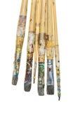 Smutsig paintbrushe Royaltyfri Foto
