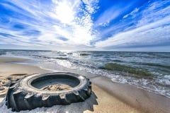 smutsig strand Arkivbild