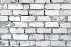 Smutsig tegelstenvägg Royaltyfria Bilder