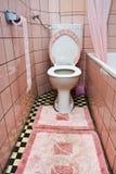 smutsig toalett Arkivbild