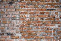 Smutsig vägg av tegelstenar Arkivfoton