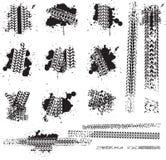 smutsiga gummihjulspår vektor illustrationer
