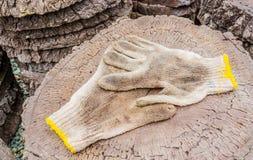 smutsiga handskar Arkivbild