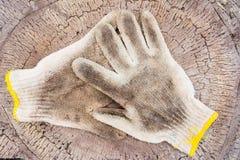 smutsiga handskar Royaltyfria Bilder