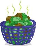 smutsiga pengar stock illustrationer