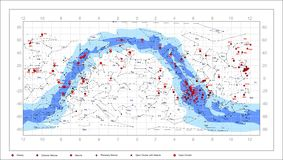 Smutsigare himmeldiagram - astronomiobjekt Arkivbild