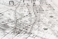 Smutsigt arkitektoniskt plan Royaltyfria Foton