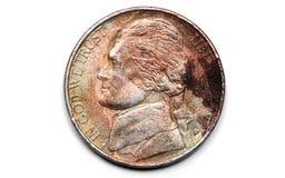 smutsigt främre mynt Arkivfoton