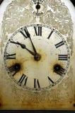 smutsigt gammalt för klocka Arkivfoto