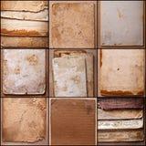 smutsigt gammalt för papp Arkivbild