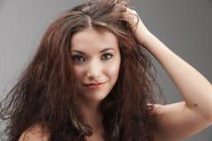 smutsigt hår Arkivfoton