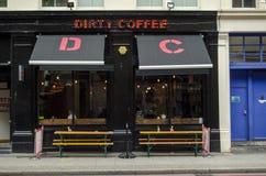 Smutsigt kaffe, Hoxton Fotografering för Bildbyråer