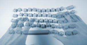 smutsigt tangentbord Fotografering för Bildbyråer