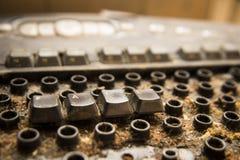 smutsigt tangentbord för dator Royaltyfri Foto