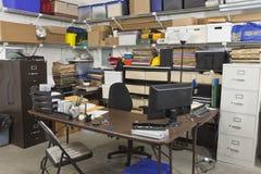Smutsigt tillbaka kontor Royaltyfria Foton