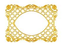 Smycka beståndsdelar, designer för guld- ram för tappning blom- Arkivbilder