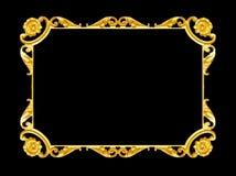 Smycka beståndsdelar, designer för guld- ram för tappning blom- fotografering för bildbyråer